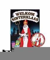 Sinterklaas deurposter met 50 onderzetters sinterklaas trend