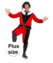 Sinterklaas heren pietenpak rood zwart grote maat trend