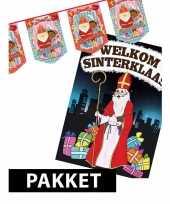 Sinterklaas vlaggenlijn sint en piet met deurposter a1 trend