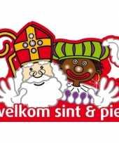 Sinterklaas welkom sint en piet deurbord trend
