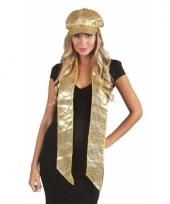 Sjaal met gouden pailletten trend