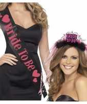Sjerp bride to be zwart met roze trend 10140910