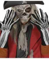 Skelet horror verkleed handschoenen voor volwassenen trend