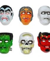 Skelet masker wit plastic trend
