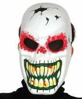 Skeletten masker voor horror themafeest trend
