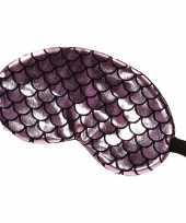 Slaapmasker oogmasker zeemeermin roze zwart voor volwassenen trend