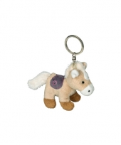 Sleutelhanger paardje creme 12 cm trend