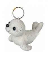 Sleutelhanger pluche glitter zeehondje trend
