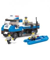 Sluban politie vrachtwagen en boot bouw speelset trend