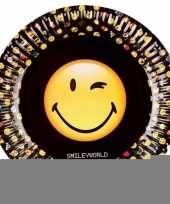 Smiley emoticons bordjes 8 stuks trend