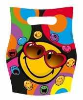 Smiley feestzakjes 6 stuks trend