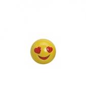 Smiley spaarpot met hartjes ogen 13 cm trend