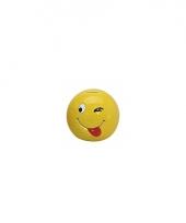 Smiley spaarpot met knipoog 13 cm trend
