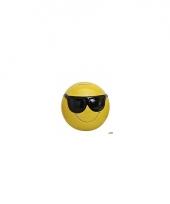 Smiley spaarpot met zonnebril 13 cm trend