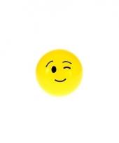 Smiley stuiterbal knipoog 8 cm trend
