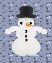 Sneeuwpop man van brandvertragend papier trend
