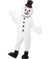 Sneeuwpop mascotte kostuum trend