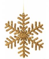 Sneeuwvlok decoratie goud 14 5 cm type 1 trend