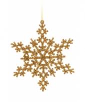 Sneeuwvlok decoratie goud 14 5 cm type 2 trend