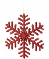 Sneeuwvlok decoratie rood 14 5 cm type 1 trend
