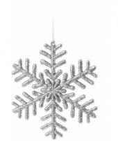Sneeuwvlok decoratie zilver 14 5 cm type 1 trend