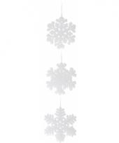 Sneeuwvlok hangdecoratie wit 15 cm 1x trend