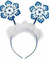 Sneeuwvlok kerst diadeems blauw trend