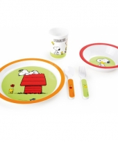 Snoopy kinder servies 5 delig trend