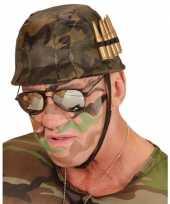 Soldaten helm met kogels trend