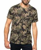Soldaten leger verkleedkleding camouflage shirt heren trend