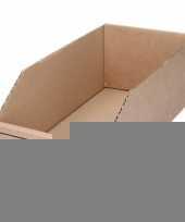 Sorteer opslag bakje 15 x 30 cm van karton trend