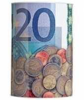 Spaarpot 20 euro biljet 15 x 22 cm trend