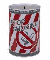 Spaarpot blik stop smoking 10 x 15 cm trend
