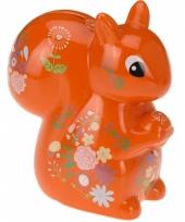 Spaarpot eekhoorn met bloemen trend