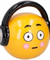 Spaarpot emoticons hoofdtelefoon 17 cm trend