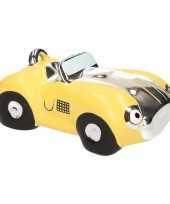 Spaarpot gele sportauto cabriolet 14 cm trend