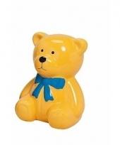 Spaarpot gele teddybeer 20 cm trend