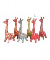 Spaarpot giraffe 28 cm rood trend