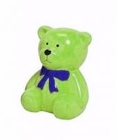 Spaarpot groene teddybeer 20 cm trend