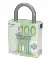 Spaarpot hangslot 100 euro biljet type 1 trend