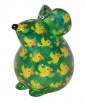 Spaarpot muis 17 cm groen type 1 trend
