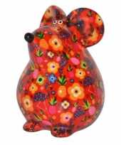 Spaarpot muis 17 cm rood type 1 trend