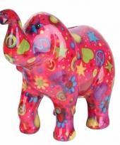 Spaarpot olifant roze 20 cm type 3 trend