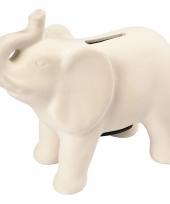 Spaarpot olifant wit terracotta trend 10083571
