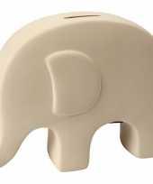 Spaarpot olifant wit terracotta trend