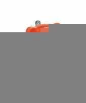 Spaarpot oranje teddybeer 20 cm trend