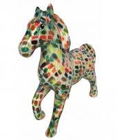 Spaarpot paard 21 cm multicolor trend