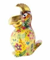 Spaarpot papegaai 22 cm geel type 1 trend