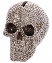 Spaarpot schedel bling 12 cm trend