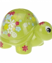 Spaarpot schildpad met bloemen trend
